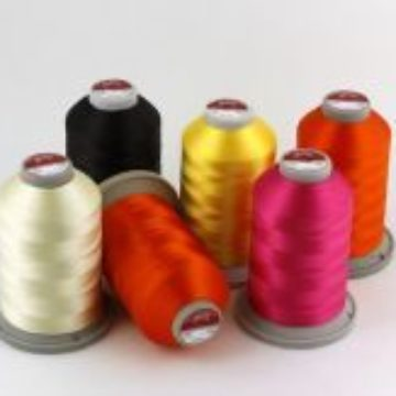 Anti-allergic threads made of viscose rayon. For machine embroidery.