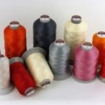 Industrial polyester threads with increased breaking strength. High resistance to external factors.